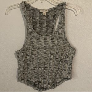 Silence + Noise Heathered Ribbed Knit Tank Top Med
